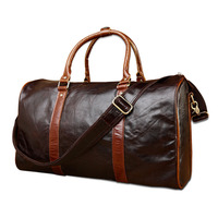 luggage travel bags for men wholesale fashion high quality leather travel bag