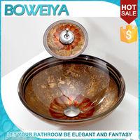 As Seen On Tv 2015 Luxury Round Italian Small Freestanding Hand Wash Basin