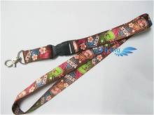Heat transfer type polyester lanyards with a safe buckle