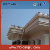 Cheap price pvc square gutter/ round gutter/roof gutter accessories