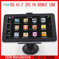 5 Inch 480x272 Gps navigation navigator MTK 800MHZ 128M ce 6.0 FM 4GB WITHOUT AVIN BT FREE EUROPE MAP