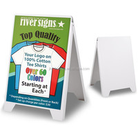 eco flex outdoor advertising double side pavement sidewalk white plastic A Frame sign Board