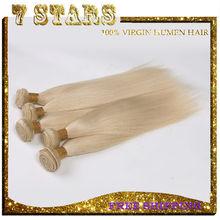 2015 popular fashion women beauty brazilian hair virgin hair extensions 613# blonde hair free shipping