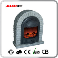 Round Door Shape Polystone Mantel Used Electric Fireplace,Elektrokamin