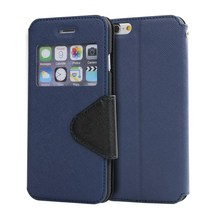 LZB pu leather with card slots, flip phone cover for Micromax Canvas XL2 A109 case