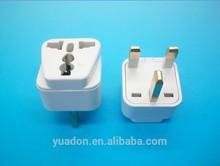 Universal to UK 3 pin plug with CE ROHS