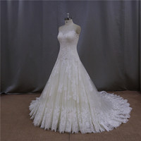 Sweet romance neckline ruffle layered wedding dresses in pakistan