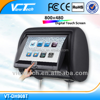 9 inch car Headrest DVD player with wireless game and touch screen