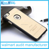white Electroplated laser wood TPU+PU cell phone case for iphone 6.6plus
