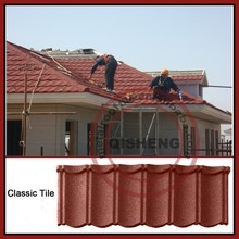 1340mm*420mm colored stone coated metal roof tiles /building materials for house stone coated roof tile