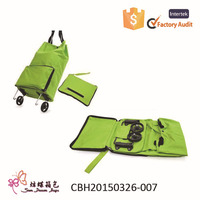 New style and hot selling reusable shopping bag, foldable shopping bag, folding shopping bag with wheels