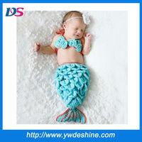 Wholesale photo prop mermaid costume crochet baby hat mz-888