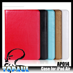 utra thin new design Flip leather cover case For iPad Air 2