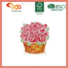 China manufacturing high quality packaging products die cutting flower 3D design paper bag printing