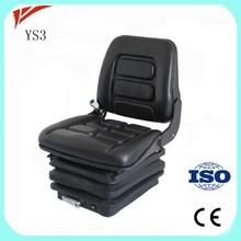 Heavy duty machine parts suspension seat for car