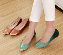Brand new cheap wholesale italian women flat shoes large size ballet flats women wholesale china women cheap