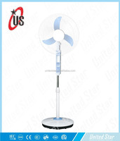 "2013 new model 16"" rechargeable stand fan with battery and emegency light"