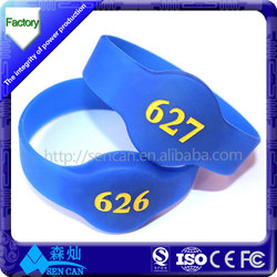 new product high quality silicone rfid wristband/125khz rfid wristband/rfid wristband price made in china (free sample)