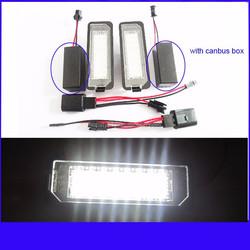 18leds Golf 4 Golf 5 Golf 6 Golf 7 led license plate light led number plate lamp License Light for VW Golf4 Passat