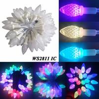 50PCS String wifi led remote control christmas light ws2811 F8 RGB