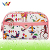 Colorful printing cosmetic bag with special design for lady