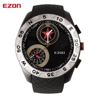 China Brand Watch EZON H607 Multifunctional Stainless Steel Back Quartz Quality Watches