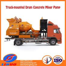 Linuo C5 concrete mixer self loading, portable concrete mixer, industrial concrete mixer pump