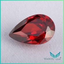 Tian Yu Gems Pear Cut Cubic Zirconia Red Garnet Zirconia Stone
