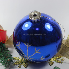 blue christmas glass snow balls