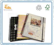 Hot Sale A4 Recipe Book Hard Cover Spiral Notebook