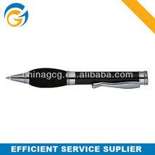 Hot! 2 Color Rubber Grip Sliver Barrel Twist Metal Ball Pen