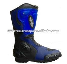 Blue Motorbike Racing Boots