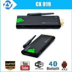 CX919 Quad core rockchip rk3188 TV dongle bluetooth WiFi Mini PC Android 4.4 full HD tv Stick xbmc kodi iptv installed