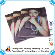 Saddle stitching top high quality gold jewelry catalog