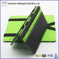 Multicolor high quality pu leather magic wallet