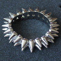 Wholesale latest style 2016 punk fashion silver jewelry party bracelet for women