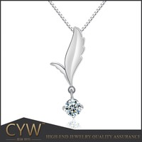 CYW new products 2015 fashion Angel wings jewelry alibaba express 925 Sterling silver pendants