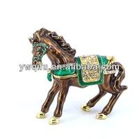 cheap horse trinket jewelry box/horse decorative box/horse trinket jewelry box