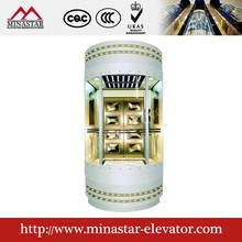 glass elevator| sightseeing lift| commercial building panoramic elevators