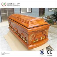 european style wooden coffin toy