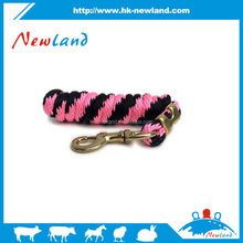 NL1453 hot sales new type equestrian 2m pink black horse lead rope
