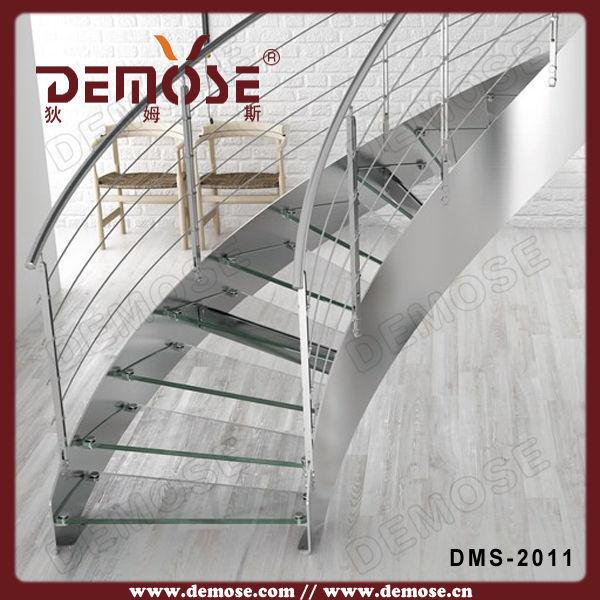 Gebruikte metalen trap stalen buis traptrede trap leuning glas trappen product id 60307066851 - Buitenste trap ...