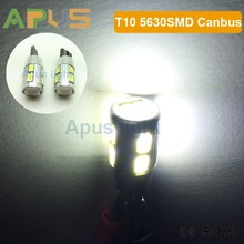 High quality canbus error free 5630SMD T10 194 W5W 12V car led lighting