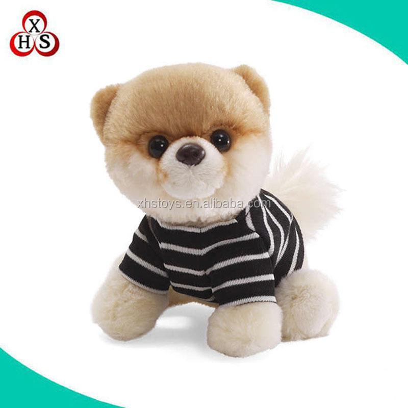 Custom girls dog plush dog with t shirt mini plush dog for T shirt dog toy