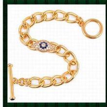 22K gold plateTrendy Unisex Evil Eye Chain bangle