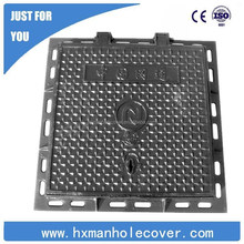 Anti-theft and noise cast iron manhole cover for telecom