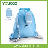 Outdoor Sport soccer bag foldable nylon shopping bag backpack with ball pocket drawstring