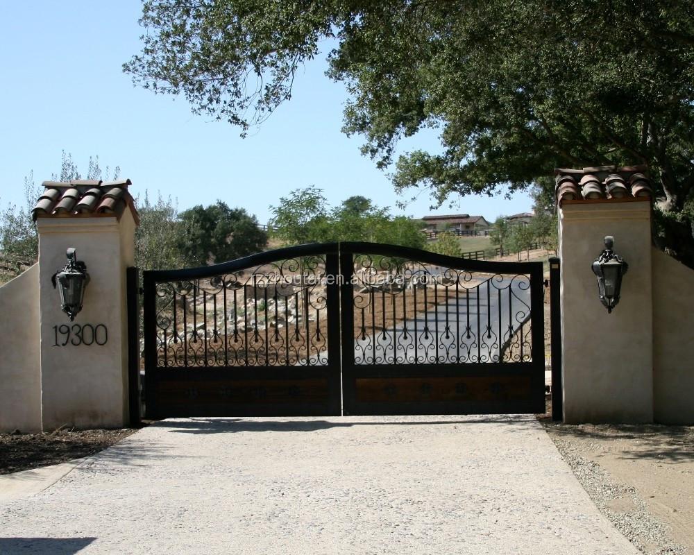 Ворота в ограду железные