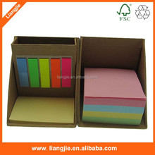 multifunctional Pen container desk memo pad set with PET sticky note