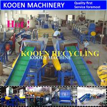 KOOEN machine to recycle plastic water bottles